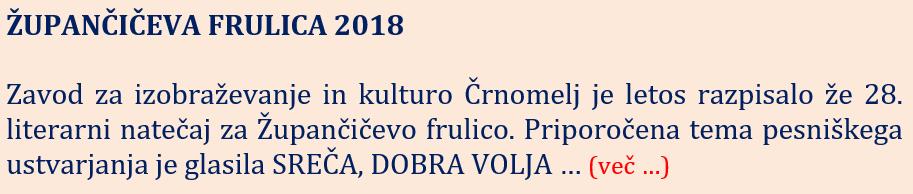 Župančičeva frulica 2018